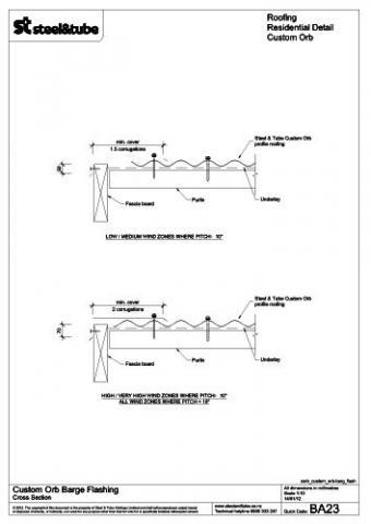 Barge Flashing Steel Amp Tube