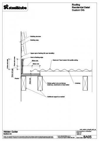 Hidden Gutter Steel Amp Tube