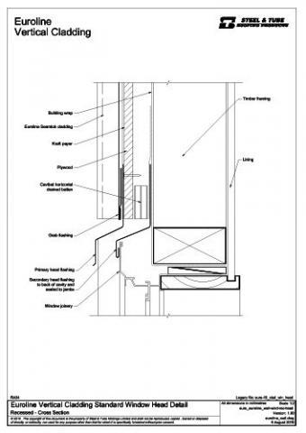 Vertical Cladding Standard Window Head Steel Amp Tube