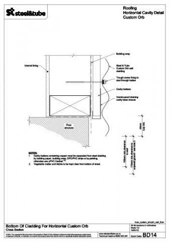 Bottom Of Cladding For Horizontal Steel Amp Tube