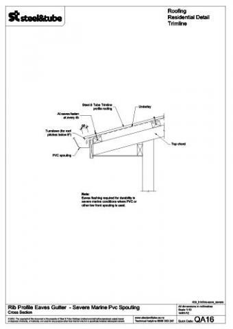 Eaves Gutter Severe Marine Pvc Spouting Steel Amp Tube